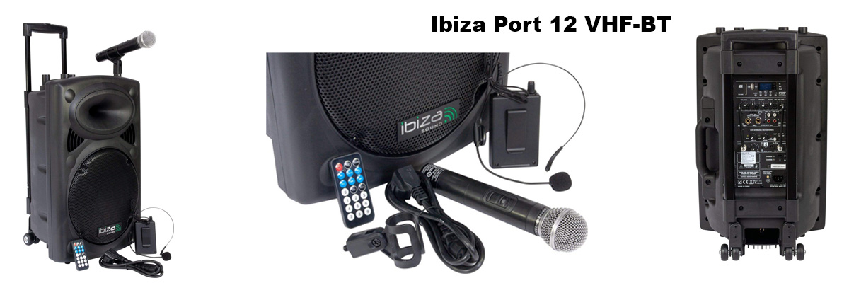 enceinte bluetooth Ibiza sound port 12 vhf