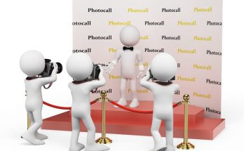 support publicitaire photocall